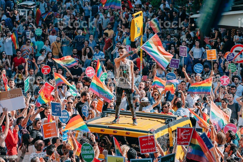 Gay Pride Istanbul 2015 stock photo