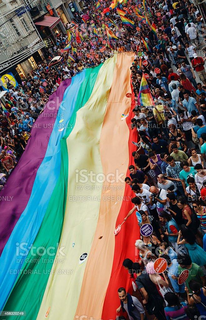 Gay Pride Istanbul royalty-free stock photo