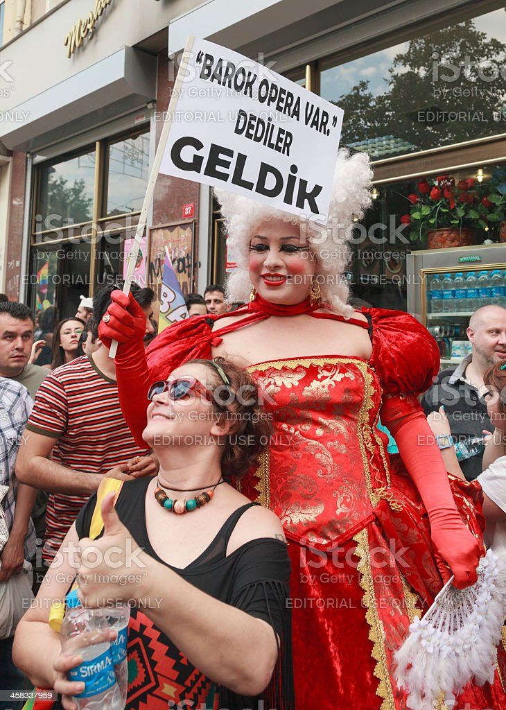 Gay Pride Istanbul stock photo