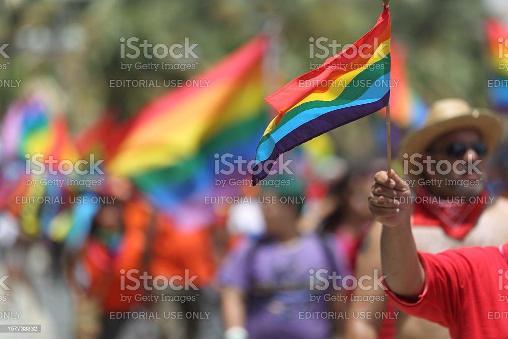 Gay Pride Parade Flag stock photo