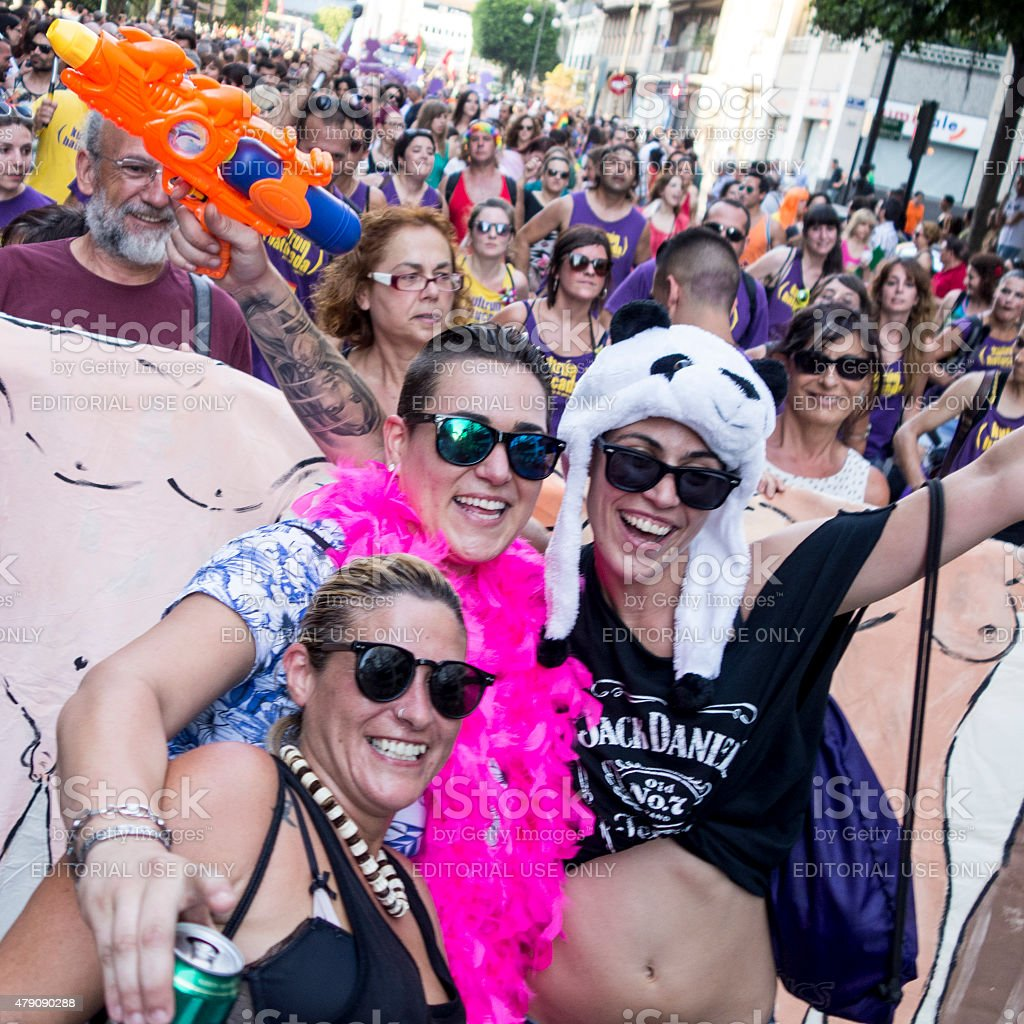 Gay Pride Parade in Spain 2015 stock photo