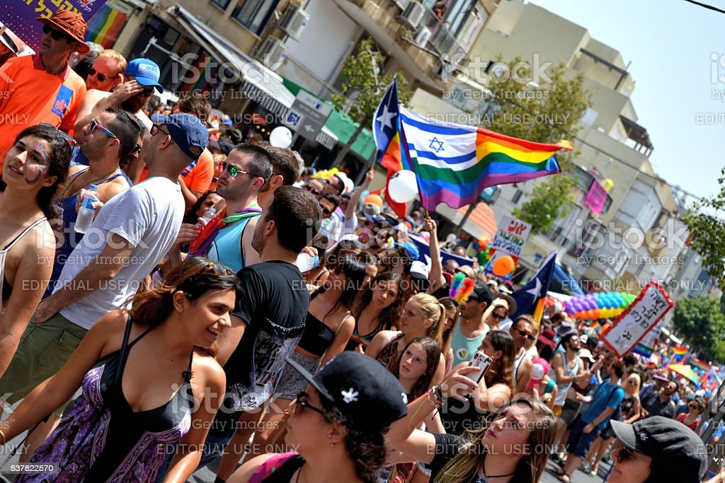 Gay pride parade in Tel Aviv, 2016 stock photo