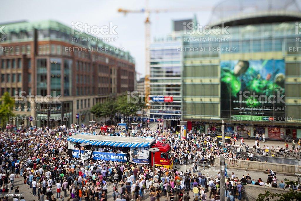 Gay Pride Parade or Christopher Street Day CSD Hamburg 2011 stock photo