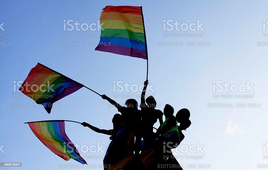 Gay Pride parade Turkey stock photo