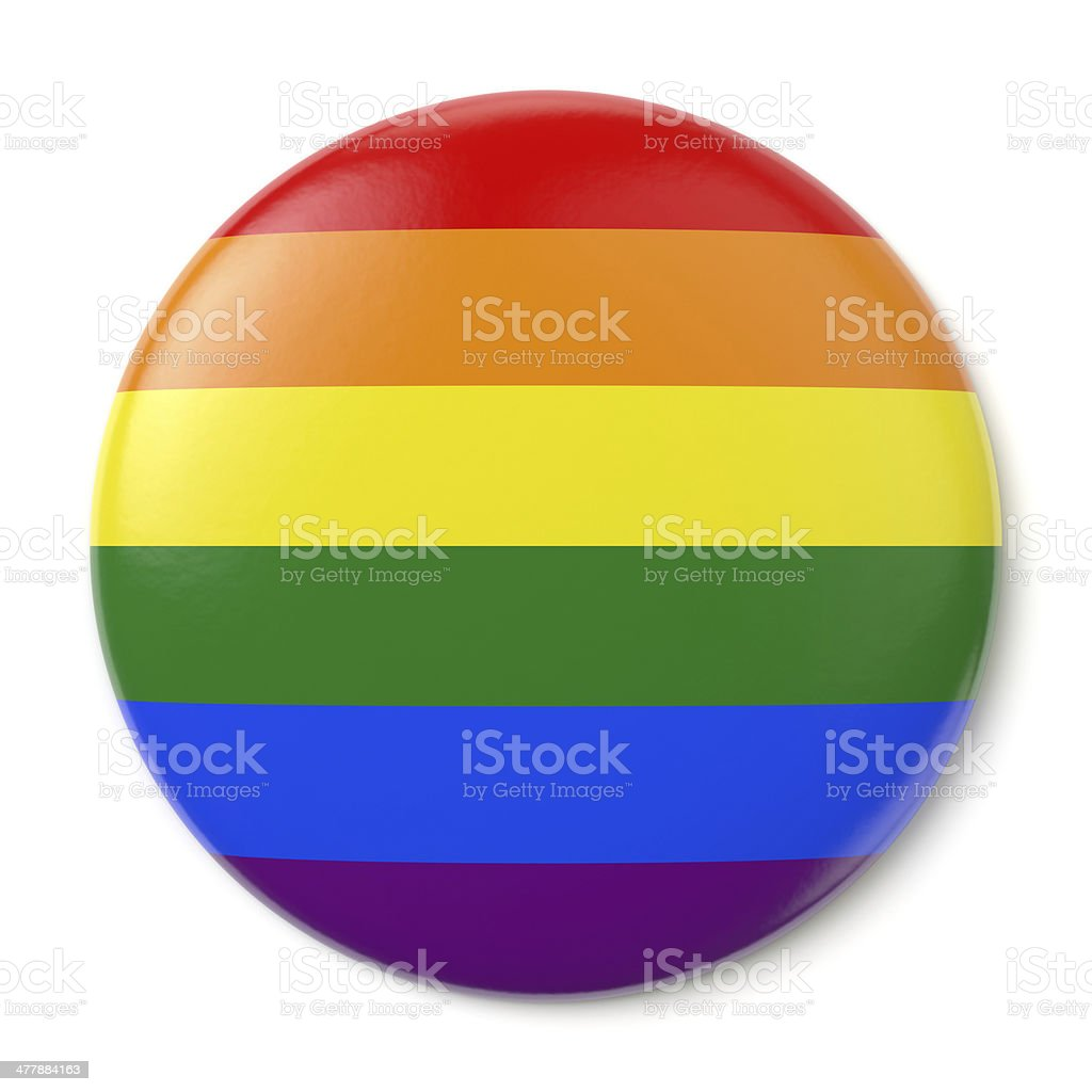 Gay Pride Pin-back stock photo