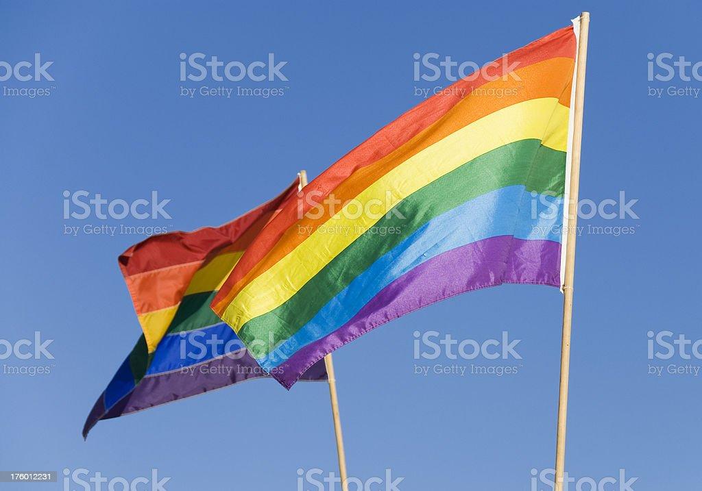 Gay Pride Rainbow Flags royalty-free stock photo
