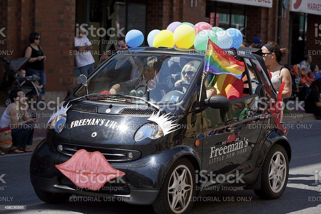 Gay Pride Smart Car royalty-free stock photo