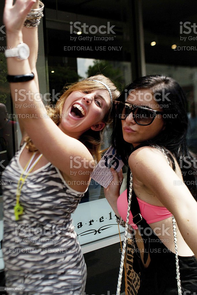 Gay Pride supporters royalty-free stock photo