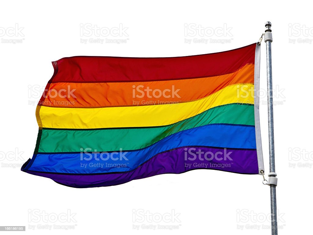Gay Rainbow Flag royalty-free stock photo