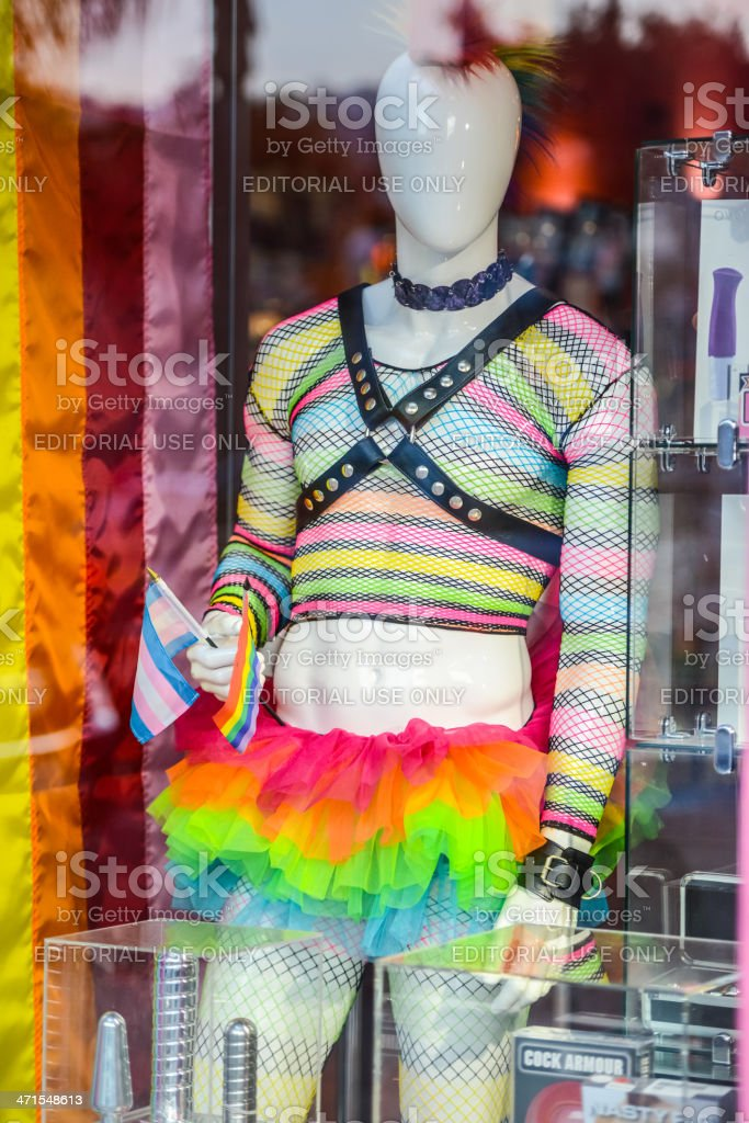 Gay Sex Shop in West Hollywood, USA royalty-free stock photo