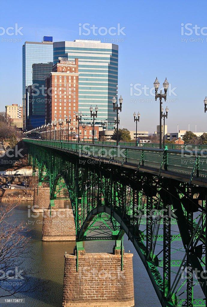 Gay Street Bridge Knoxville stock photo
