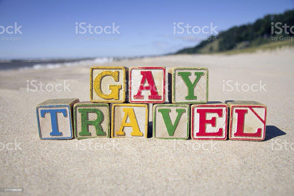 Gay Travel Blocks stock photo