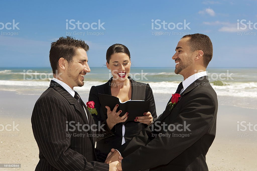 Gay wedding ceremony stock photo