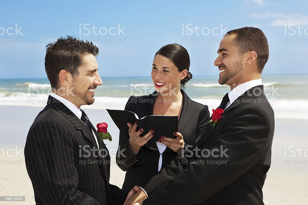 Gay wedding - Civil Partnership stock photo