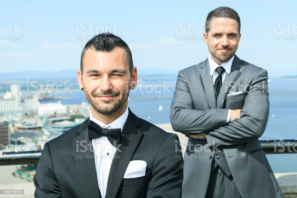 Gay Wedding - Couple royalty-free stock photo