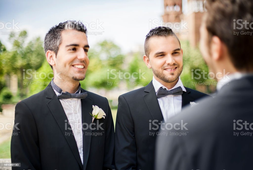Gay wedding stock photo