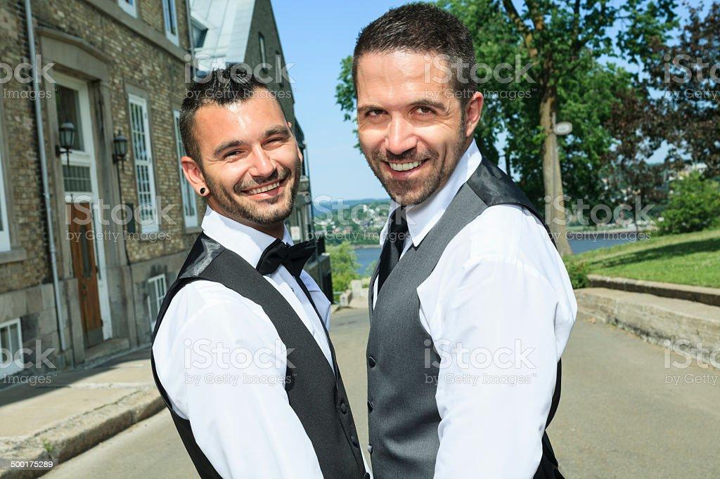Gay Wedding - Street Walk royalty-free stock photo