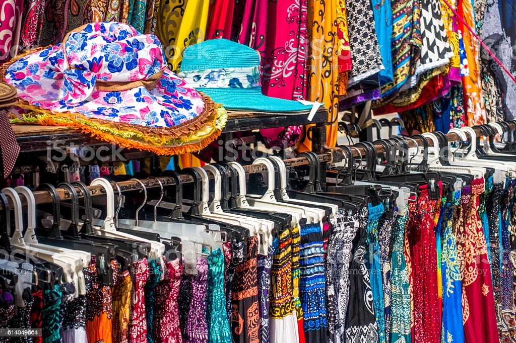 Gaya Street Market in Kota Kinabalu, Malaysia stock photo