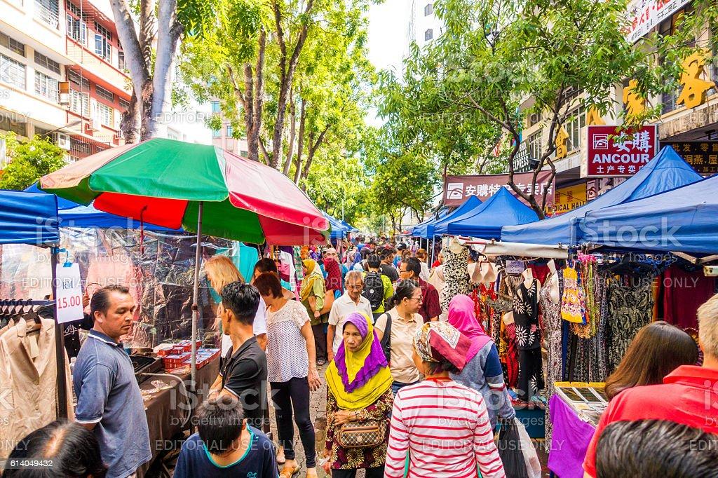 Gaya Street market in Kota Kinabalu stock photo