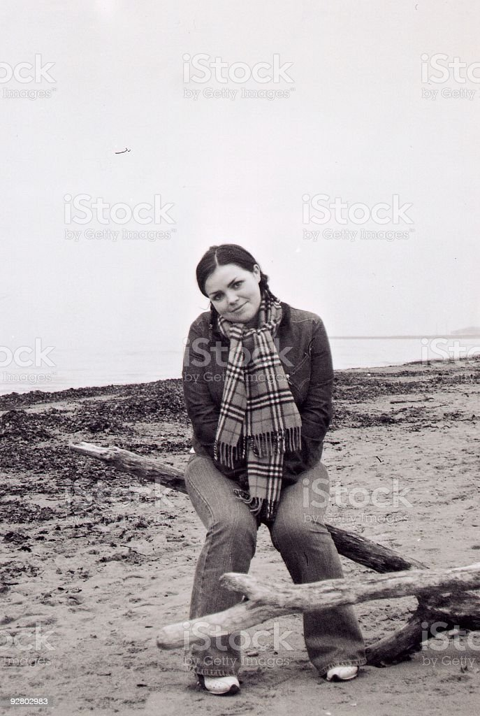 Gayle - Girl on beach one royalty-free stock photo