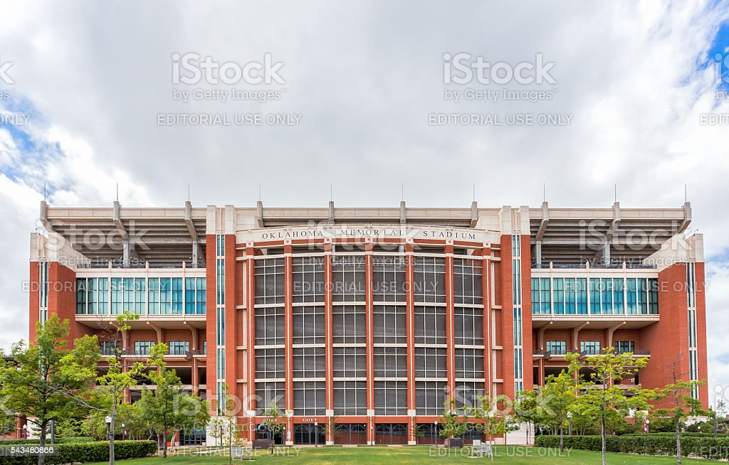Gaylord Family Oklahoma Memorial Stadium stock photo