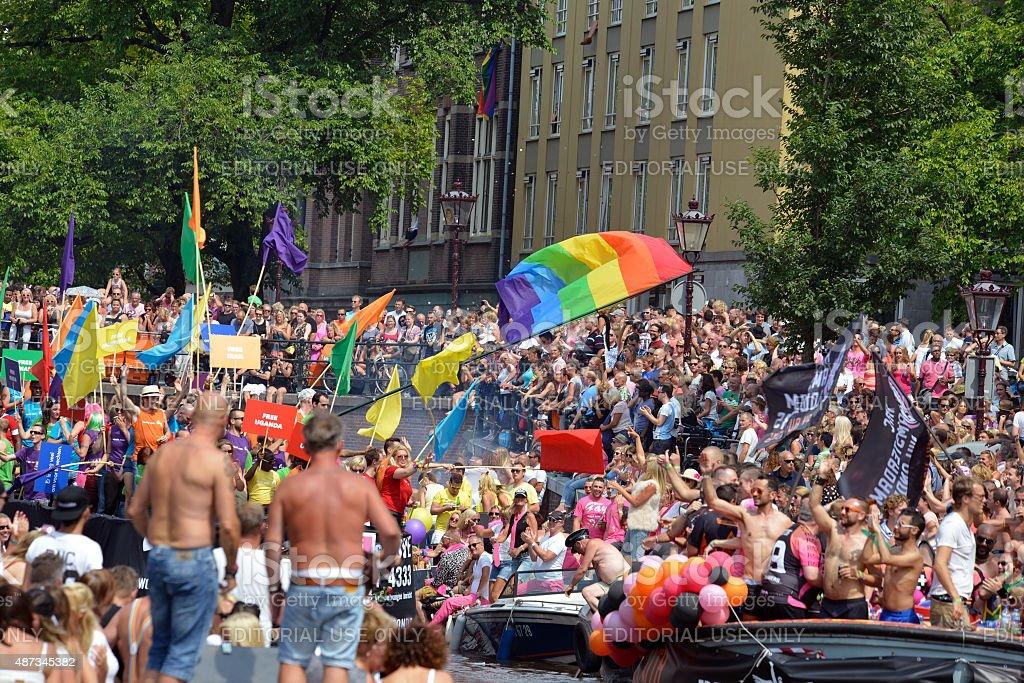 Gaypride 2014 Amsterdam stock photo
