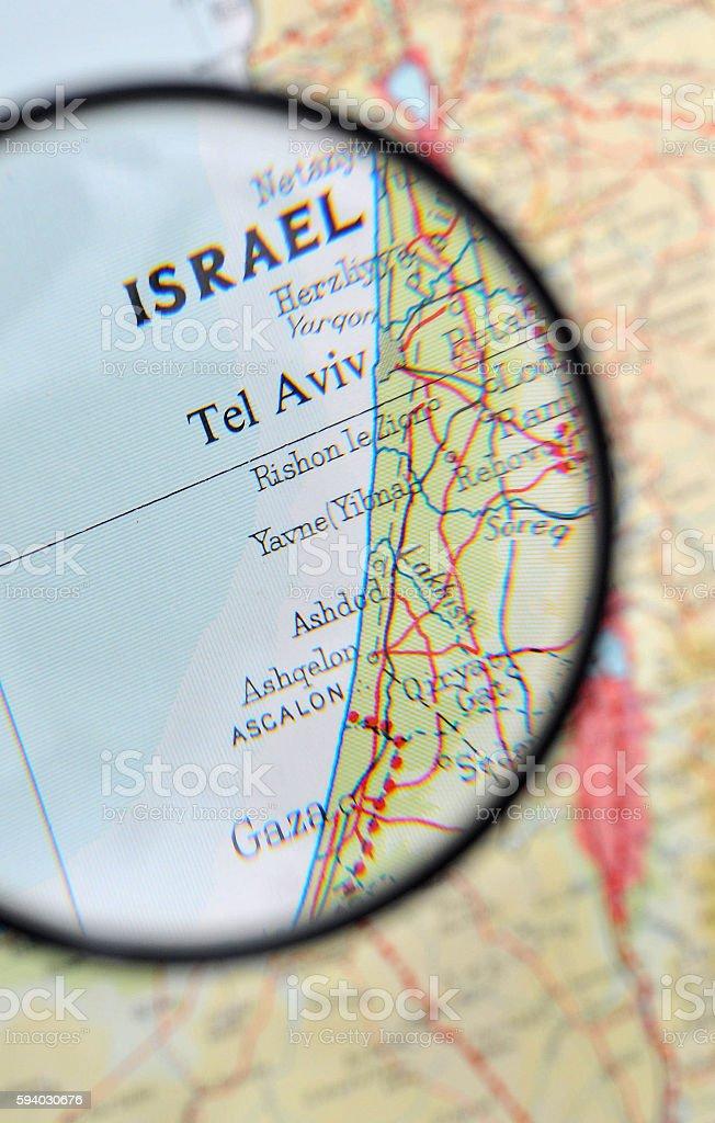 Gaza Strip map stock photo