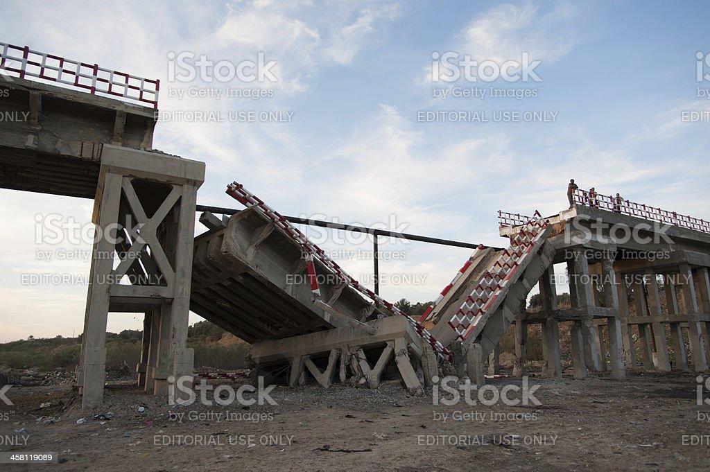Gaza war damage stock photo
