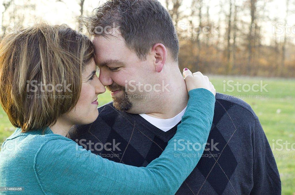 gaze into their eyes stock photo