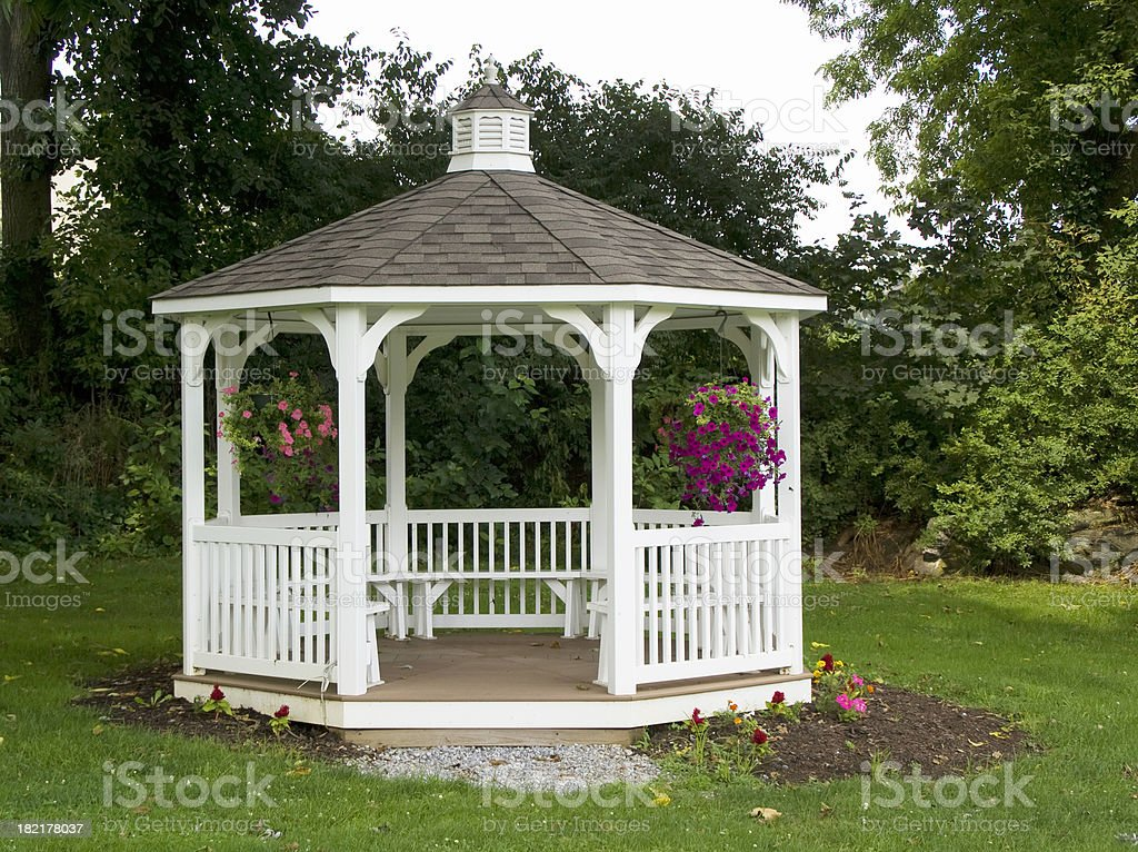 Gazebo in a Quiet Place stock photo