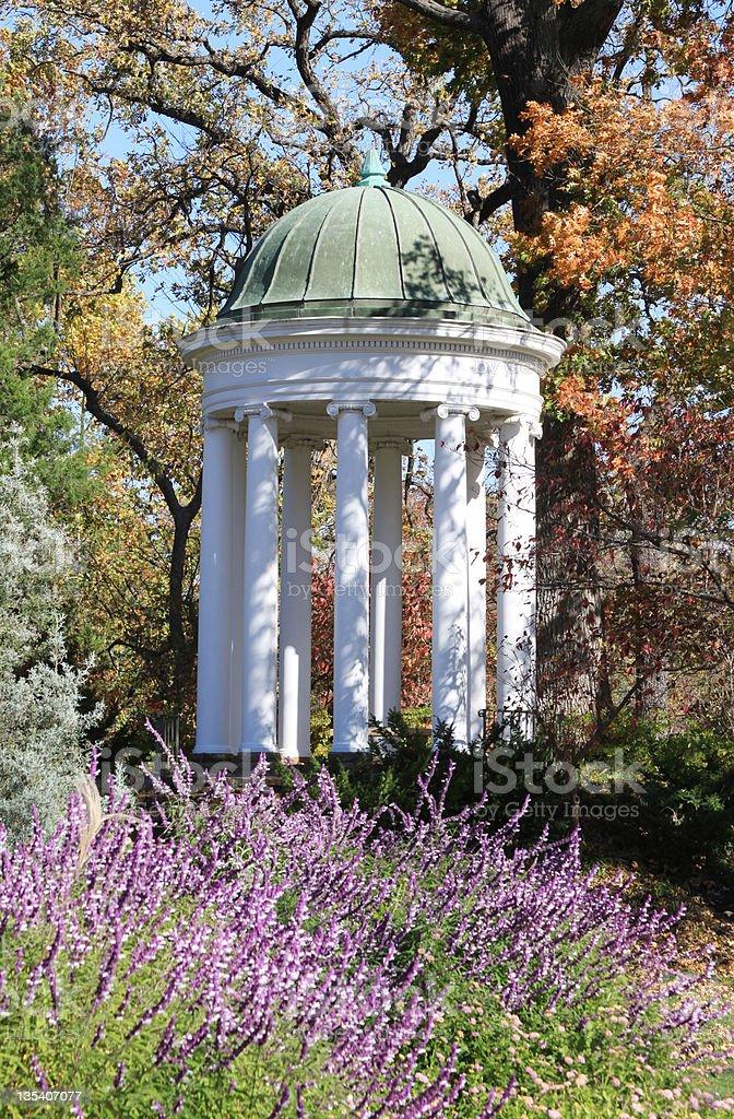 Gazebo in Autumn royalty-free stock photo
