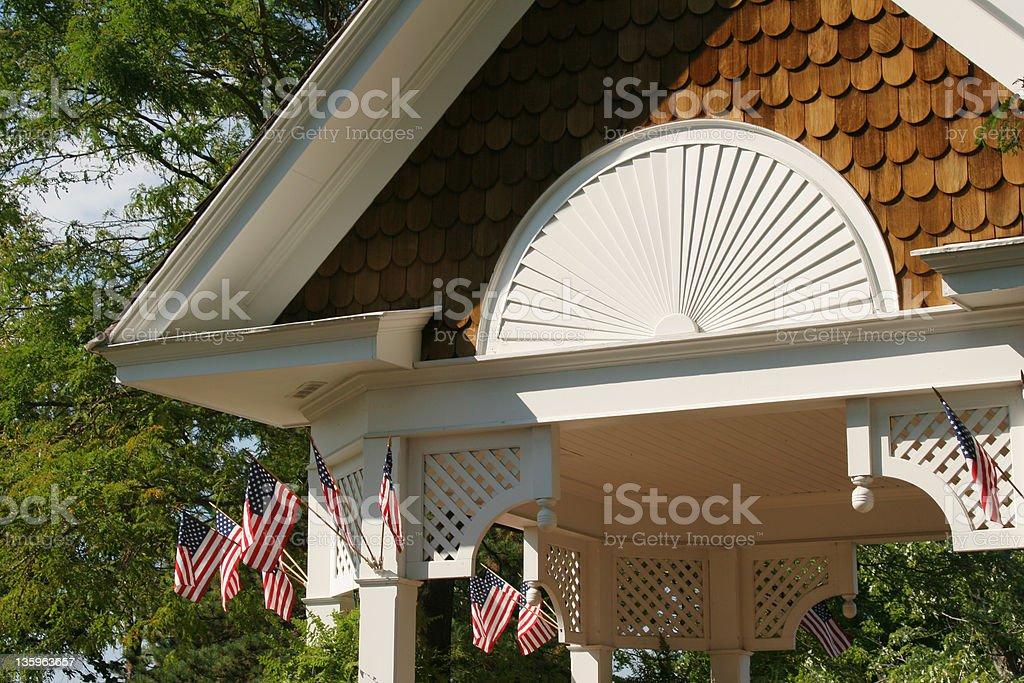 Gazebo Roof Detail stock photo