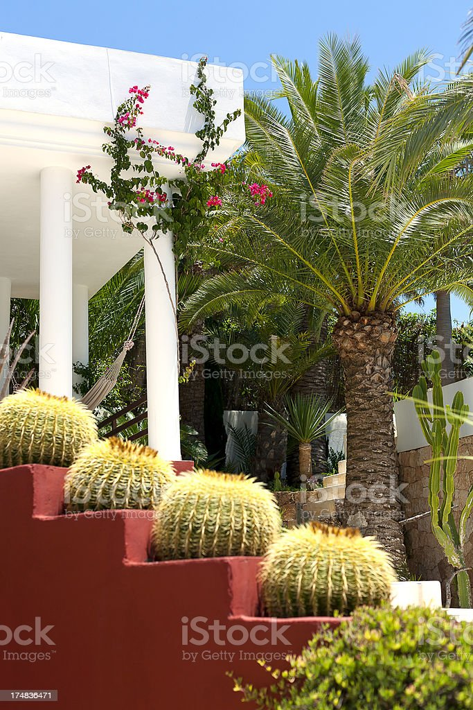 gazebo with flowers royalty-free stock photo