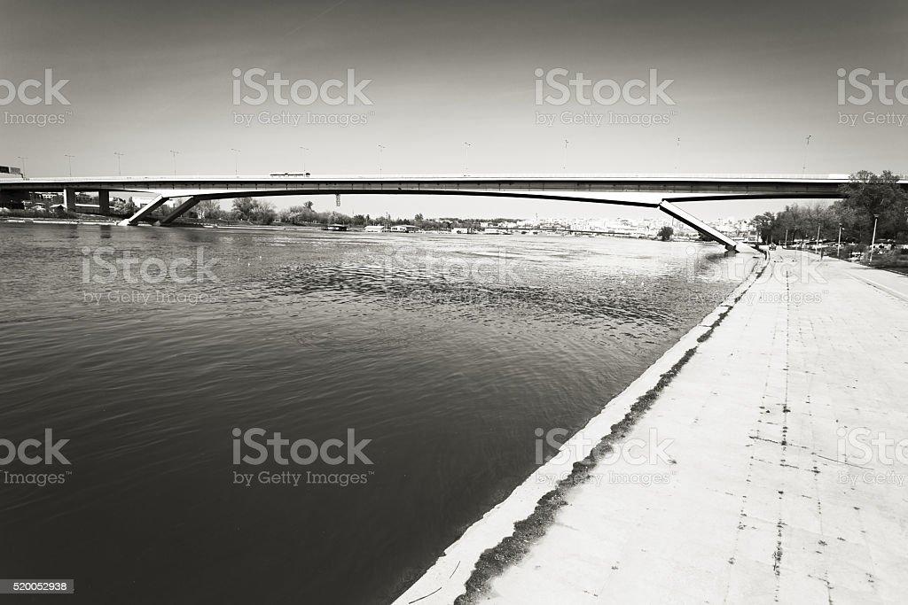 Gazela Bridge, Belgrade, Serbia stock photo