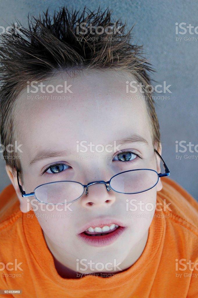Gazing boy stock photo