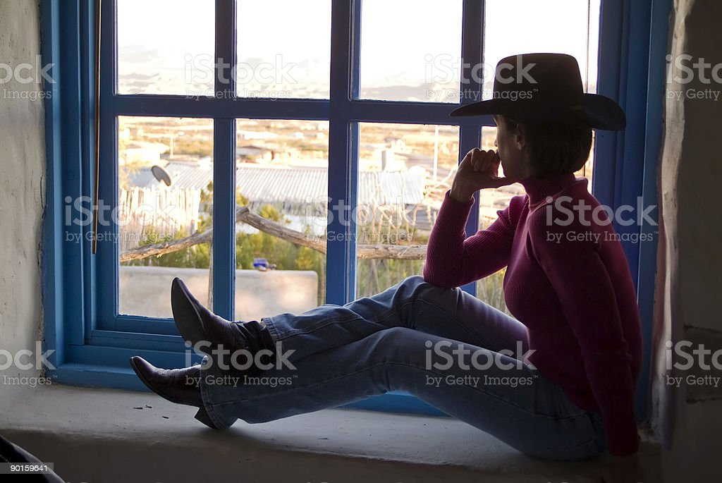 Gazing out the Window royalty-free stock photo