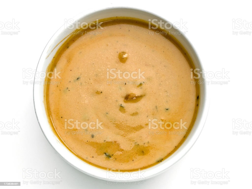 Gazpacho from above stock photo
