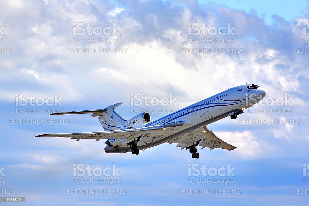 Gazprom Avia Tupolev Tu-154M stock photo