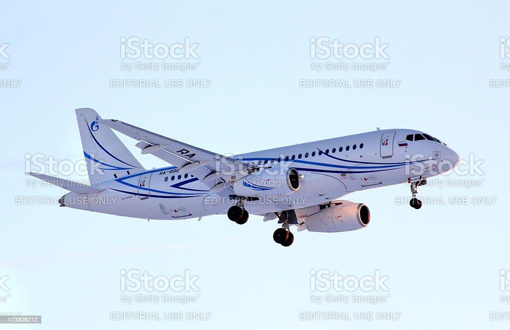 Gazpromavia Sukhoi Superjet 100-95LR stock photo