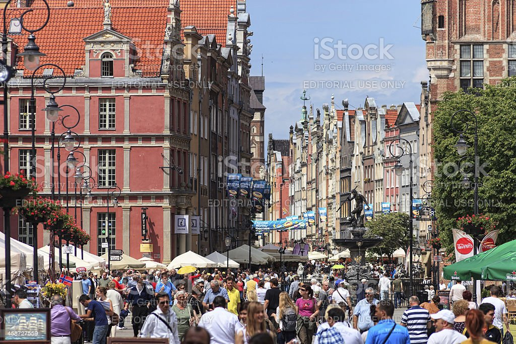 Gdansk during the Euro 2012 Championship royalty-free stock photo