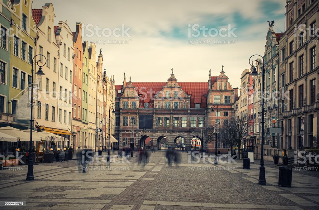 Gdansk Green Gate stock photo