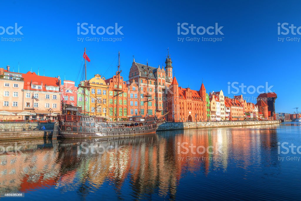 Gdansk in sunny day stock photo