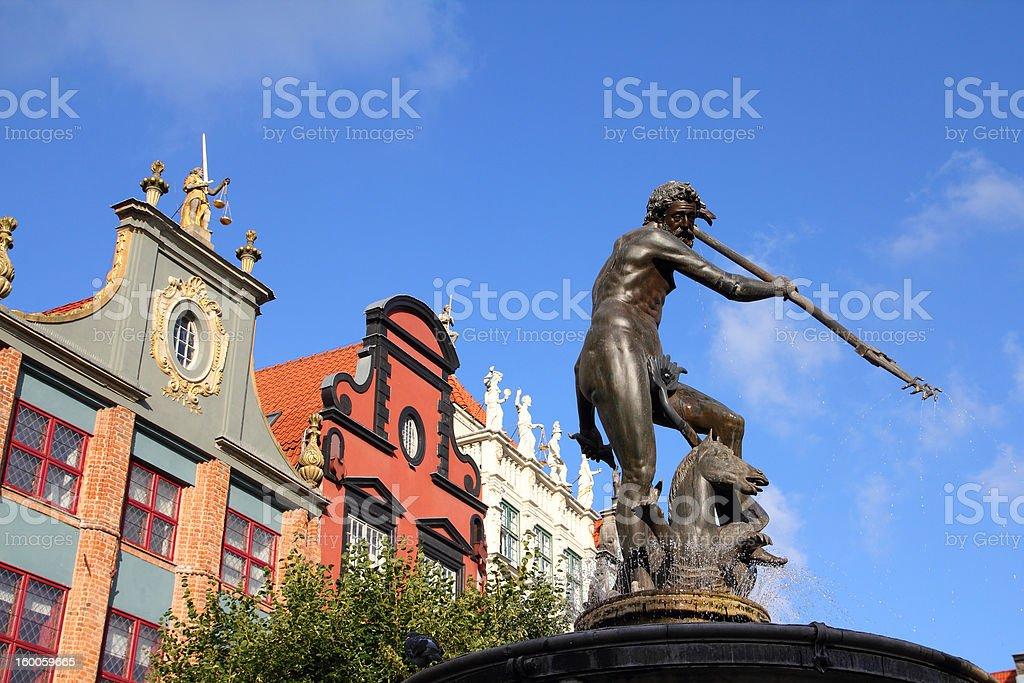 Gdansk - Neptune Fountain stock photo