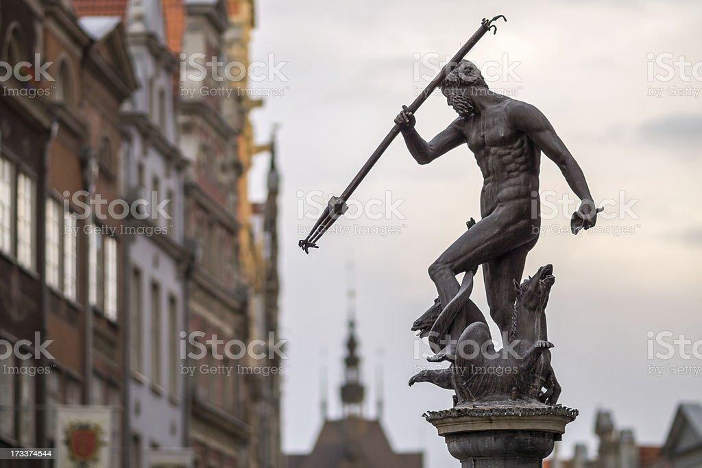 Gdansk Neptune Statue, Poland stock photo