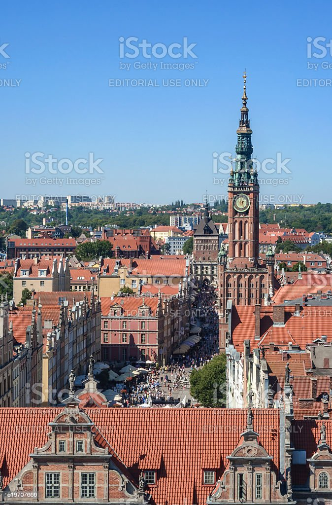 Gdansk Old City in Poland stock photo