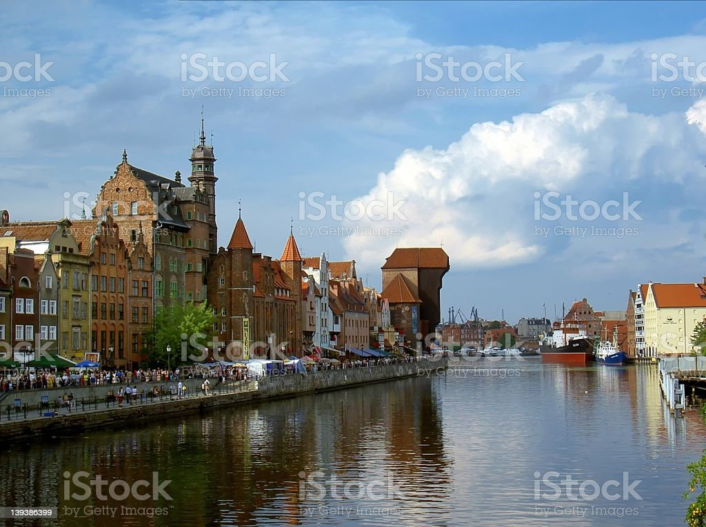 Gdansk, old port stock photo