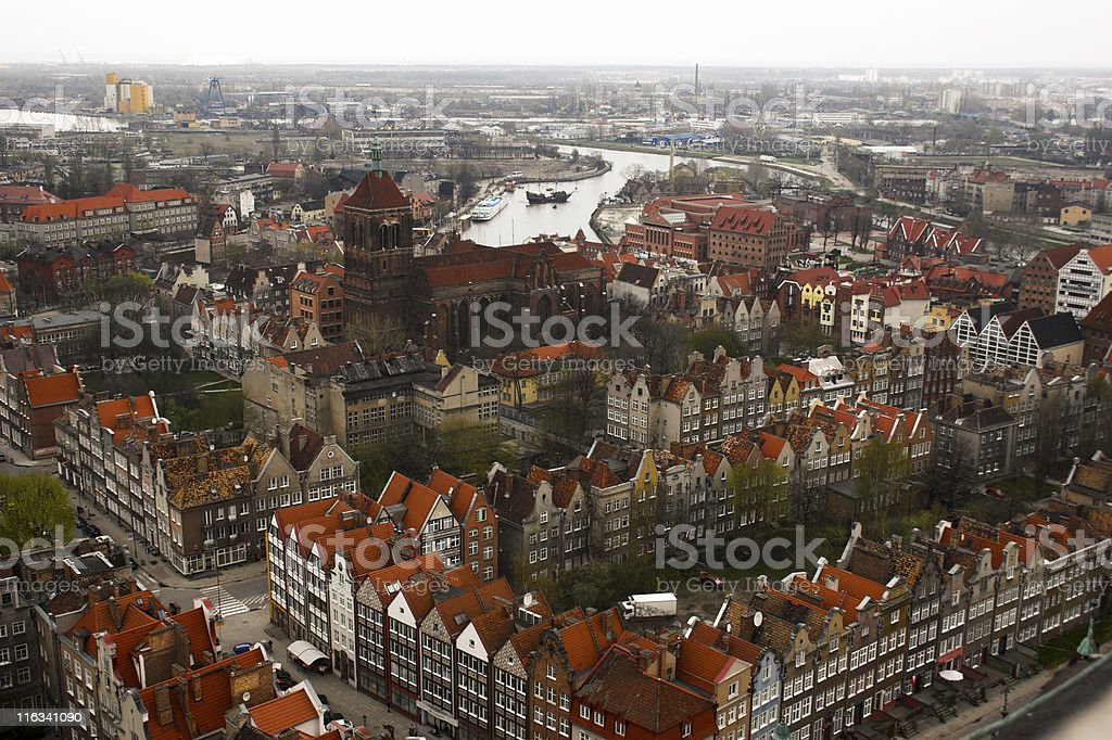 Gdansk Old Town royalty-free stock photo