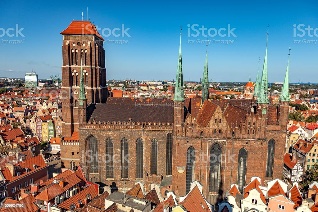Gdansk Old Town stock photo