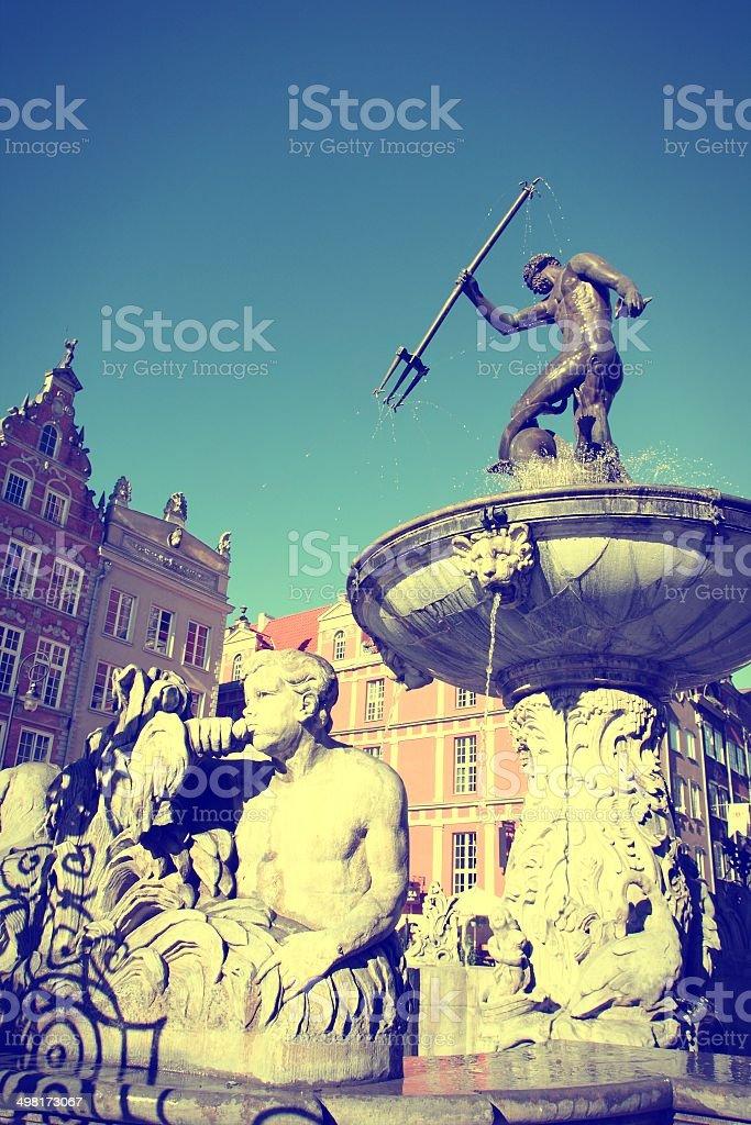 Gdansk retro stock photo