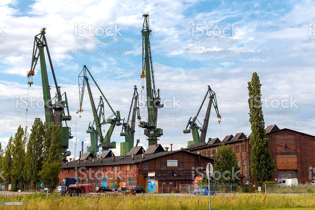 Gdansk. Shipyard stock photo